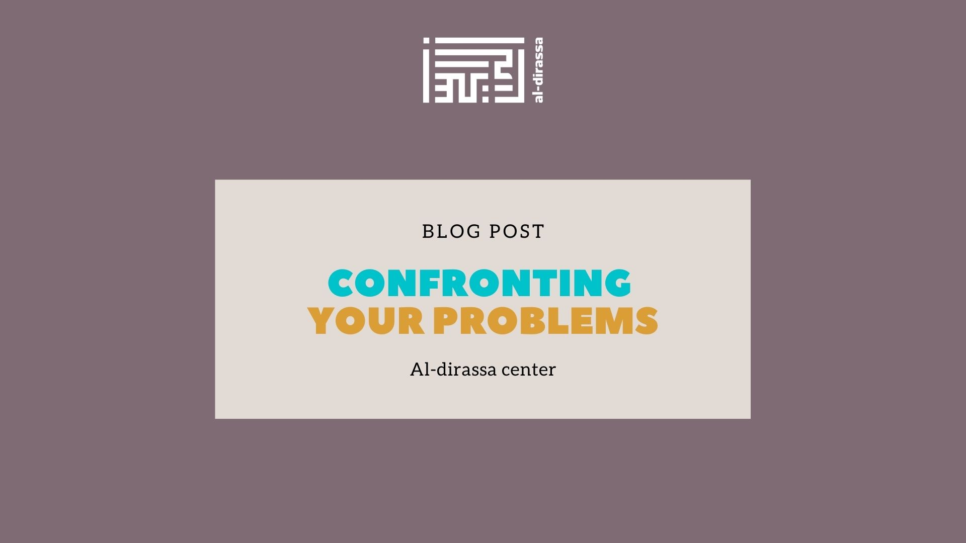 confronting your problems