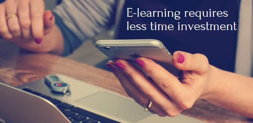 Arabic E-learning requires less time