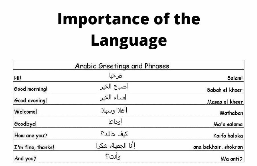 Arabic Language Importance