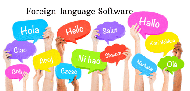 Foreign-language software