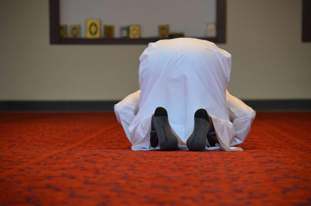 salat prayer - sujud