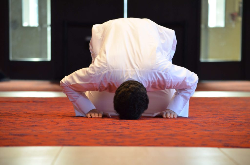 sujud in salat prayer
