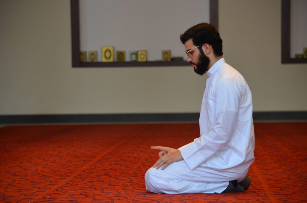 sitting position during salat prayer
