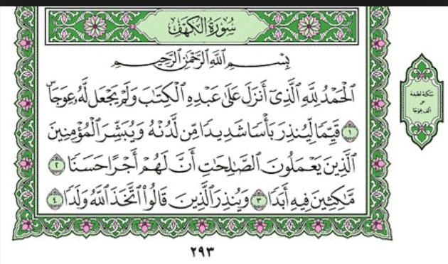 Surah al Kahf - beginning of the Surah
