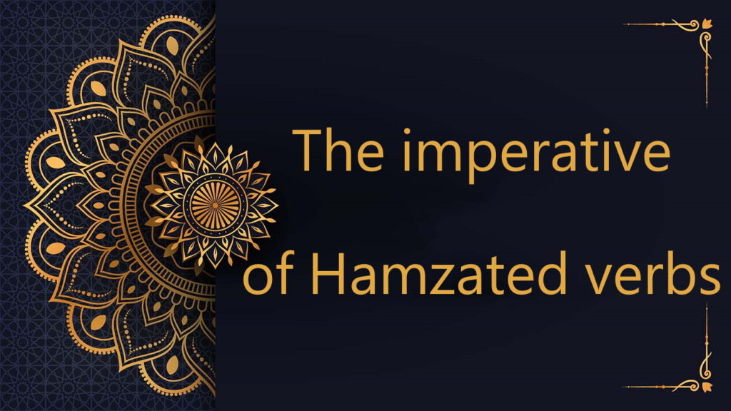 The imperative fof Hamzated verbs - Arabic free courses