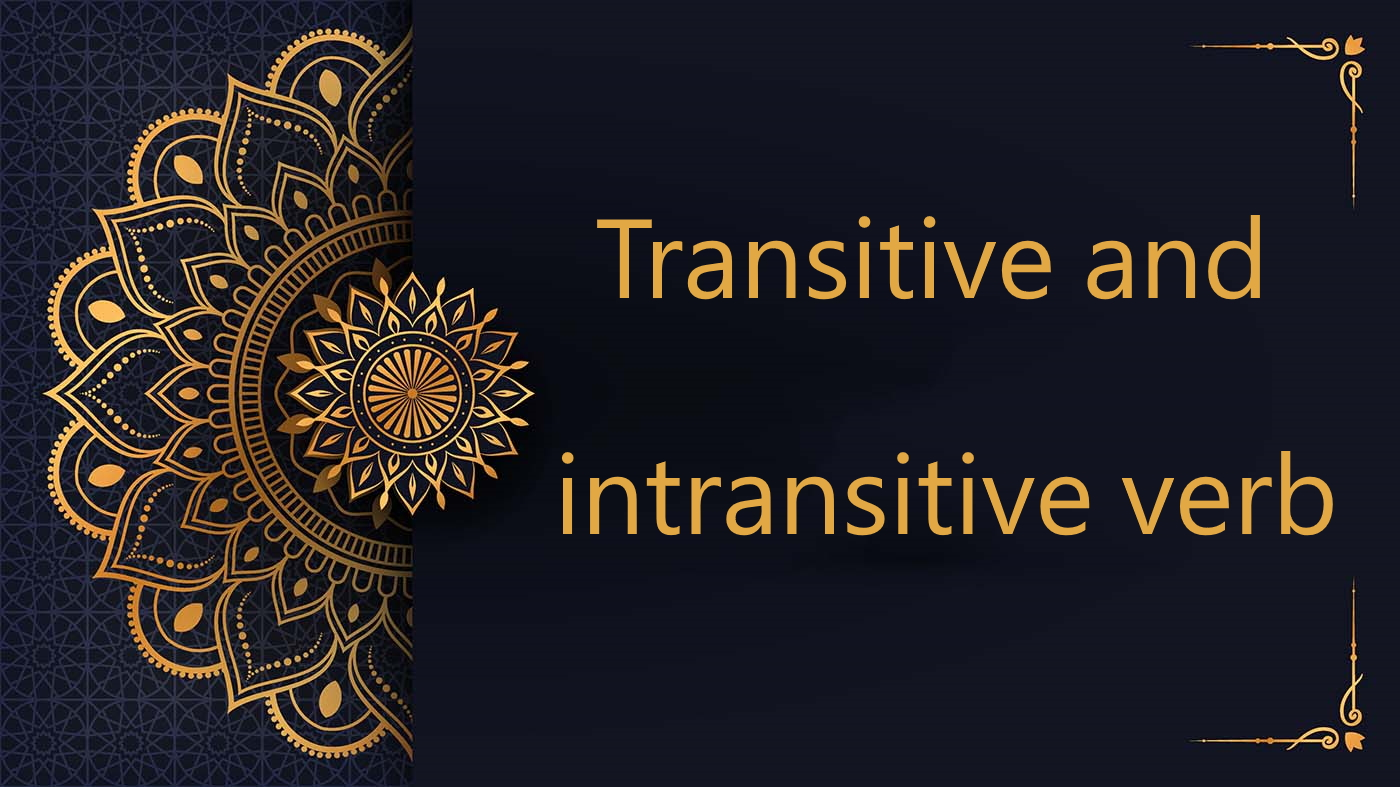 Transitive and intransitive verb - Arabic free courses