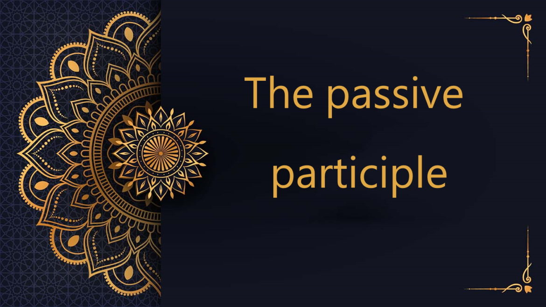 the passive participle in Arabic | free arabic courses
