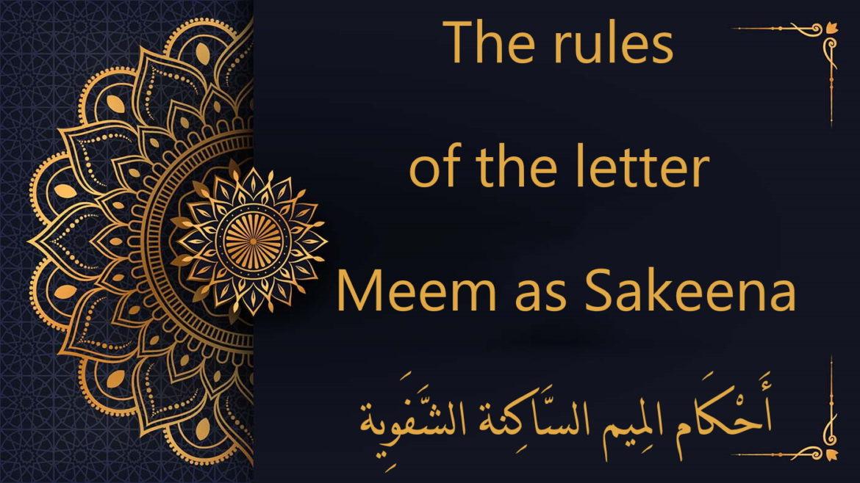 The rules of the letter Meem as Sakeena | tajweed rules