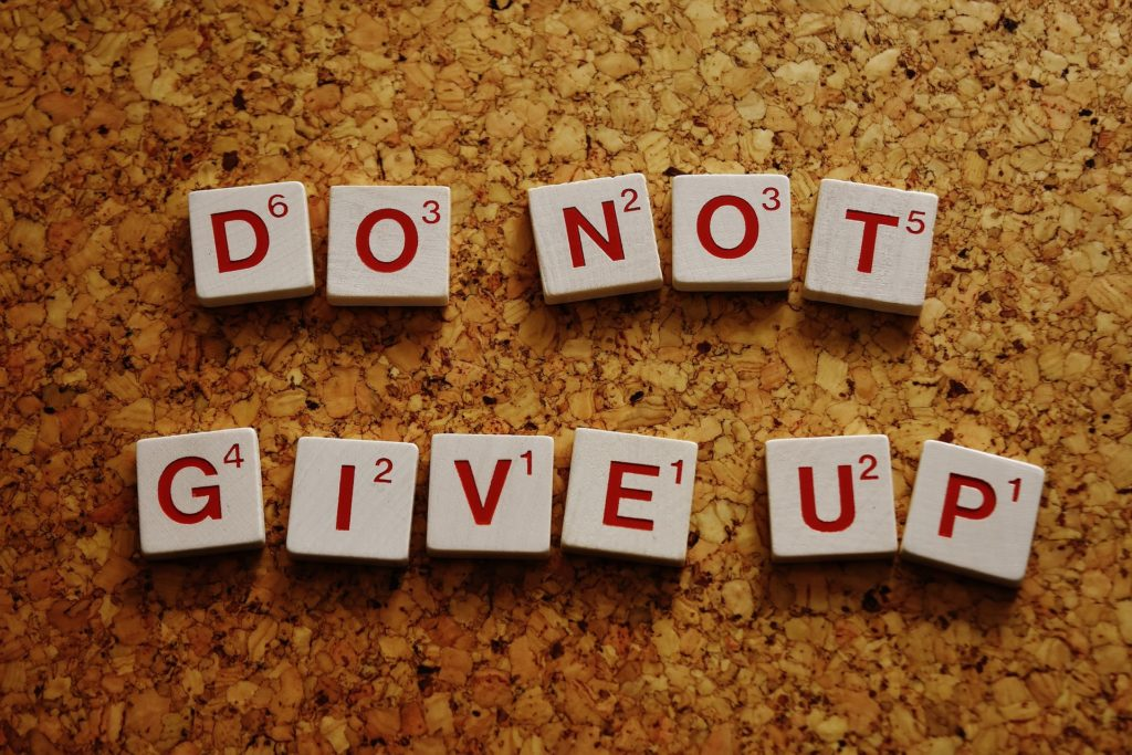do not give up while learning arabic